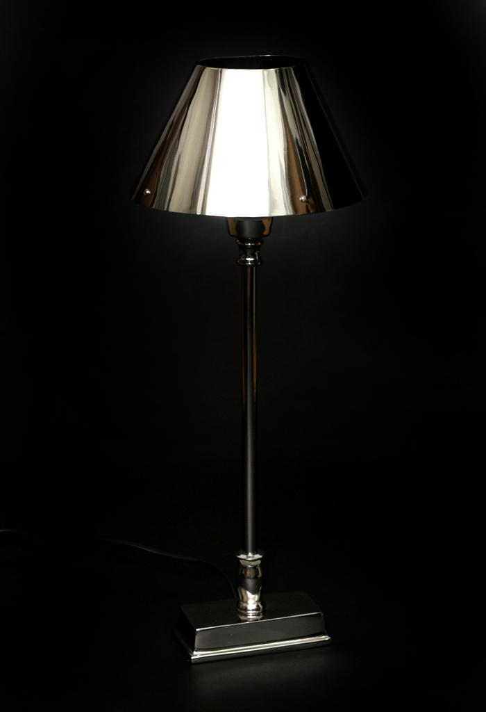tischlampe tischleuchte nickel silber nieten oval rechteckig lampe leuchte tisch ebay. Black Bedroom Furniture Sets. Home Design Ideas