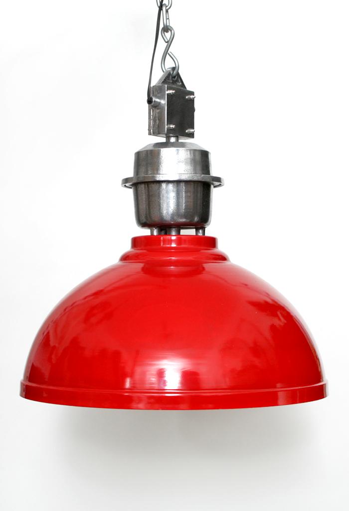 h ngelampe pendellampe industry 52cm metall rot deckenlampe massiv lampe leuchte ebay. Black Bedroom Furniture Sets. Home Design Ideas