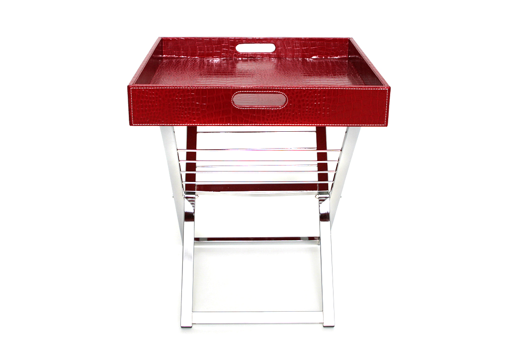 Side Table Lap Tray Coffee Serving Red Classy New Ebay