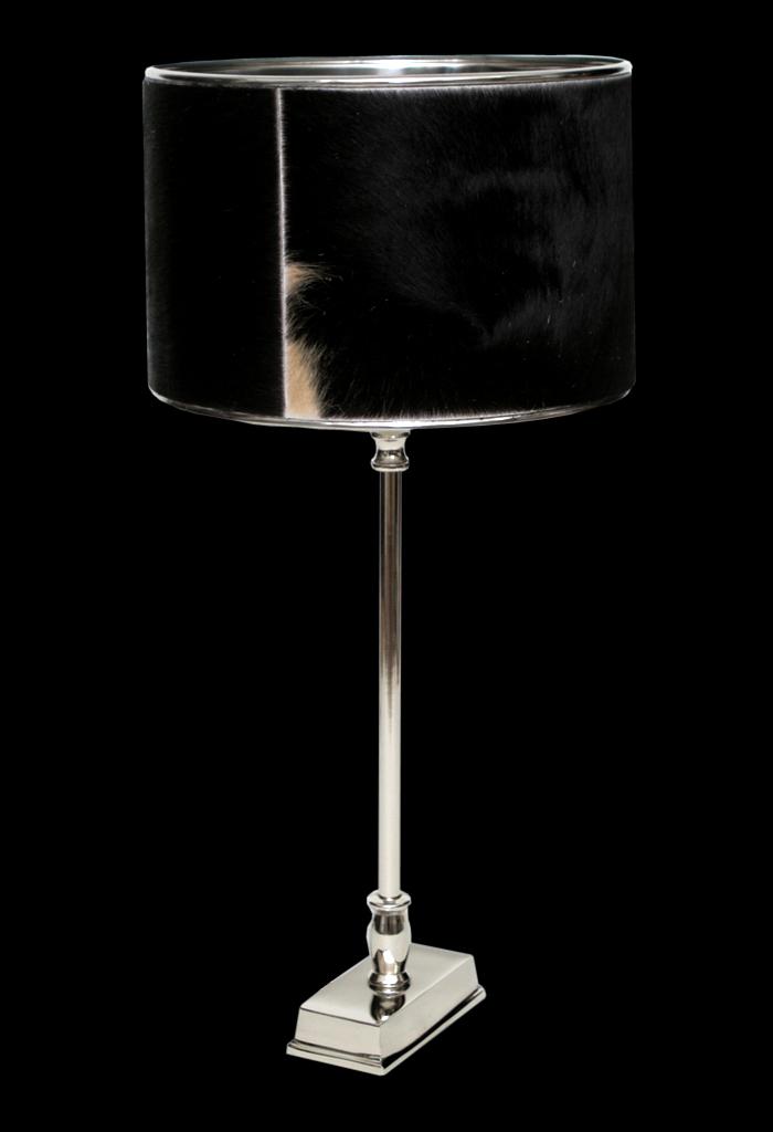 Design tischlampe tischleuchte kuhfell schirm lampe for Lampen charlottenburg
