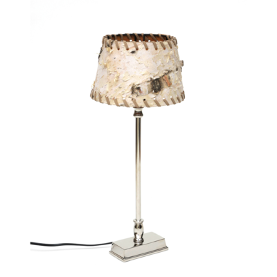 Design tischlampe mit lampenschirm birke online bestellen for Lampenschirm tischlampe