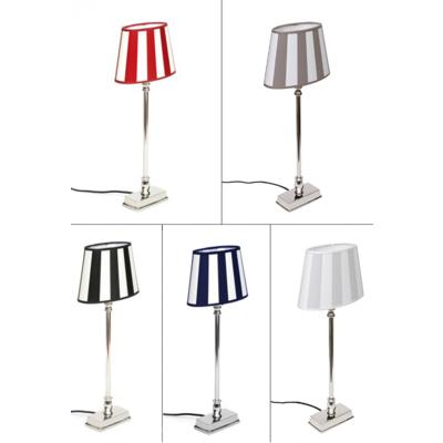 Tischlampe lampenschirm gestreift kaufen brillibrum for Lampenschirm tischlampe
