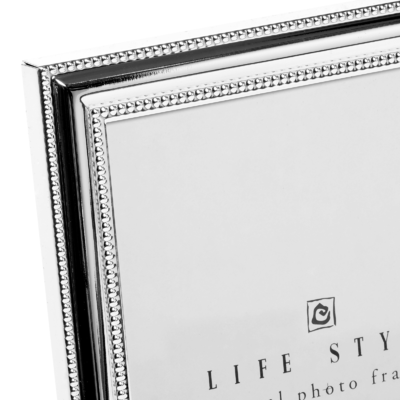 bilderrahmen metall versilbert perlrand online bestellen brillibrum. Black Bedroom Furniture Sets. Home Design Ideas