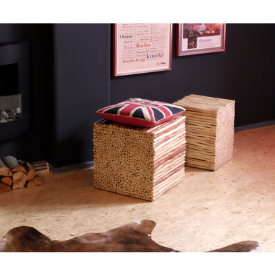 Hocker Bad Holz 4